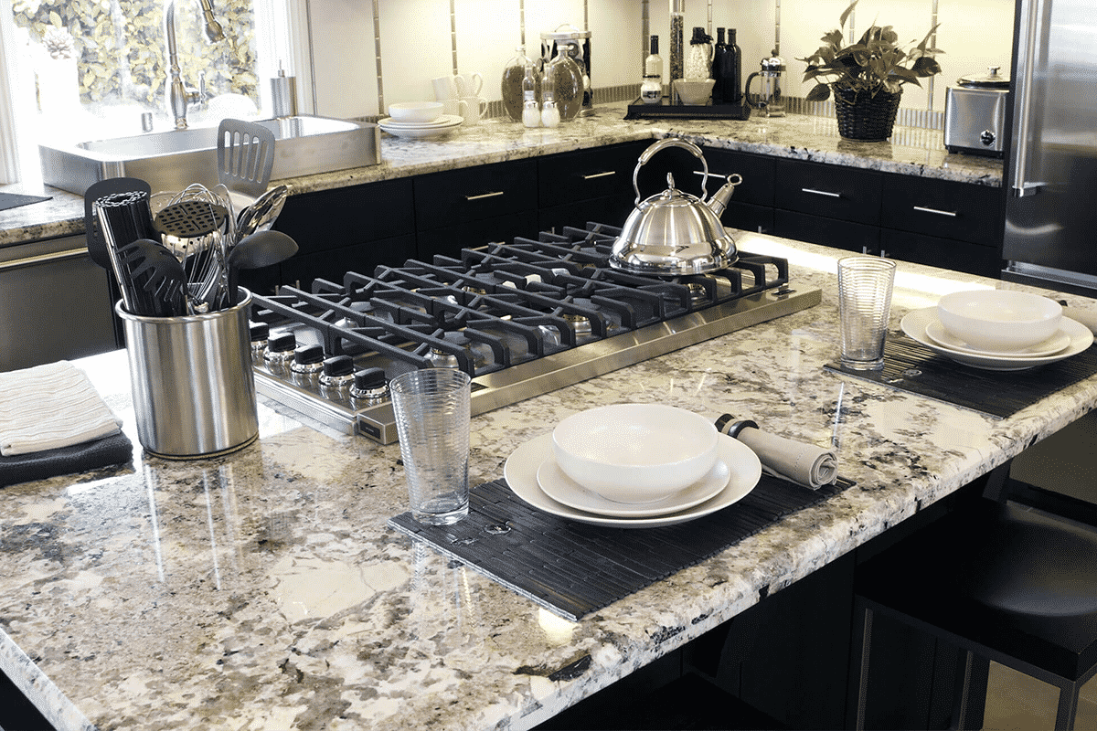 MultiStone Kitchen Countertops Black And White Countertop Trends